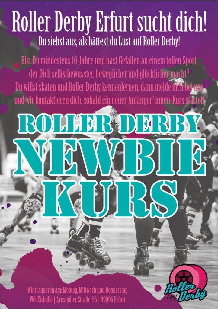 Bist du mindestens 16 Jahre und hast Gefallen an einem tollen Sport der Dich selbstbewusster, beweglicher und glücklicher macht? Du willst skaten und Roller Derby kennenlernen, dann melde dich!